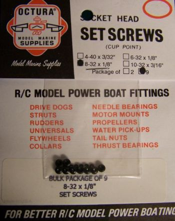 "Grub Screw 8-32 x 1/8""  long"