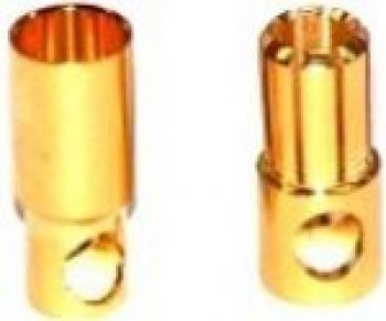 OSE 6.0mm Gold Plated Bullet Connectors