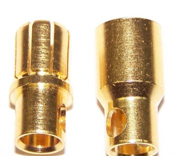 OSE 8.0mm Gold Plated Bullet Connectors