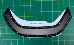 Assault Mono Windshield Decal