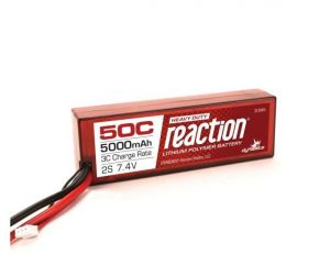 Reaction 7.4V 5000mAh 2S 50C LiPo, Hardcase, EC5 Connector