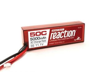 Reaction 11.1V 5000mAh 3S 50C LiPo, Hardcase, EC5 Connector