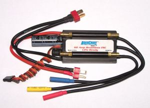 AquaCraft Marine 60-Amp Water-Cooled/Proof Marine ESC LiPo Rdy