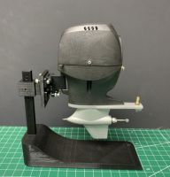 Scale Outboard with Metal Lower Unit: All Black
