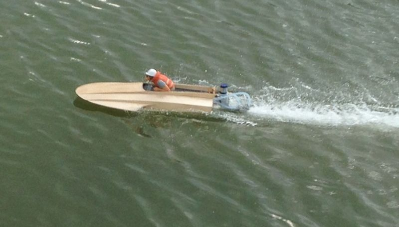 "Classic Hydro's ""Hurricane-10"" Mini Outboard Kneeler Wood Hydroplane Kit"