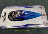 Zonda Fiberglass Blu/Wht Hatch/Cowl - Paint Damaged! See Picture 1