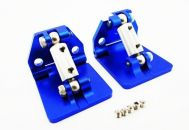 Hot Racing Aluminum Adjustable Trim Tabs (2) Blue M41