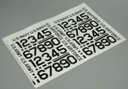 "Army, Navy and Airforce 2"" Black Numbers Pressure Decals"