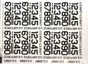"Army, Navy and Airforce 1"" Black Numbers Pressure Decals"