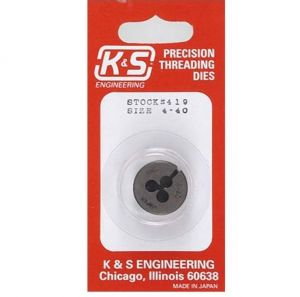 K&S Threaded Die 4-40