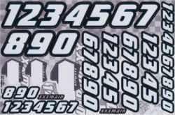XXX Main Racing Decals Race Number White