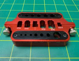 Fuse Red Anodized Solder Jig
