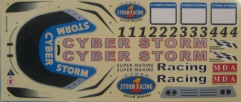 Delta Force Cyber Storm 33 Decal Sheet