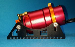 High mount fiberglass, Water cooled heavy duty motor mount for 40mm motors.