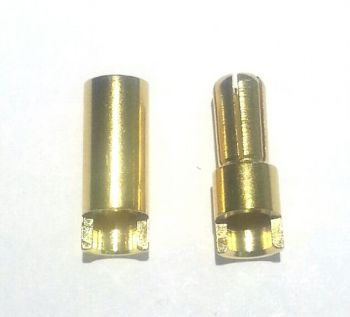OSE Cut Style 5.5mm Gold Plated Bullet Connectors