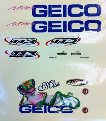 Stock Decal Set for ProBoat Miss Geico