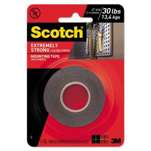 "Scotch Extreme 30lb Mounting Tape 1"" x 5'"