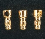 3.5mm Male Bullet Connectors (3 Pack)