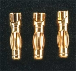 4.0mm Male Bullet Connectors (3 Pack)