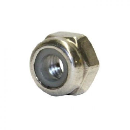 Nut : Locking : Stainless : 4mm