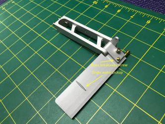 TFL CNC aluminum 95mm Rudder with one water pickup
