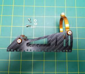 Carbon fiber heavy duty motor mount for 40mm motors.