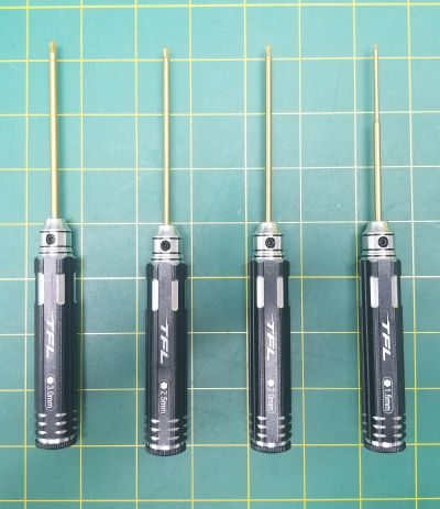 TFL 4 Piece Ball Tip Driver Set 1.5, 2, 2.5, 3mm